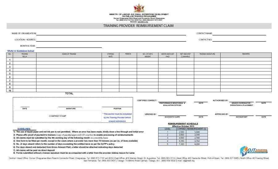 Mileage Reimbursement Form. Reimbursement Form 07 47 Reimbursement ...