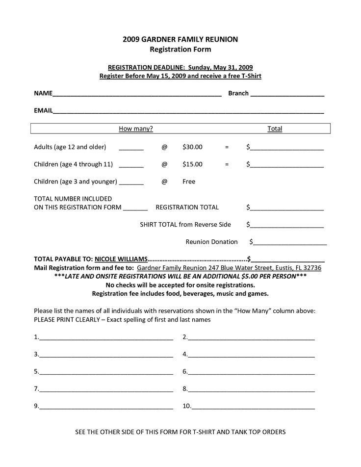 Registration Form. School Registration Form Sample Sample ...