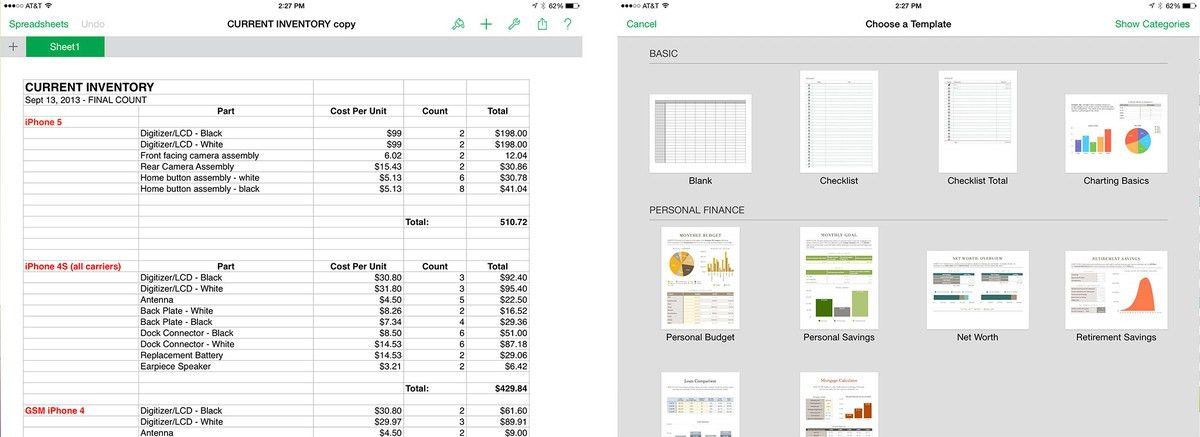 Best spreadsheet apps for iPad: Numbers, Google Drive, Microsoft ...