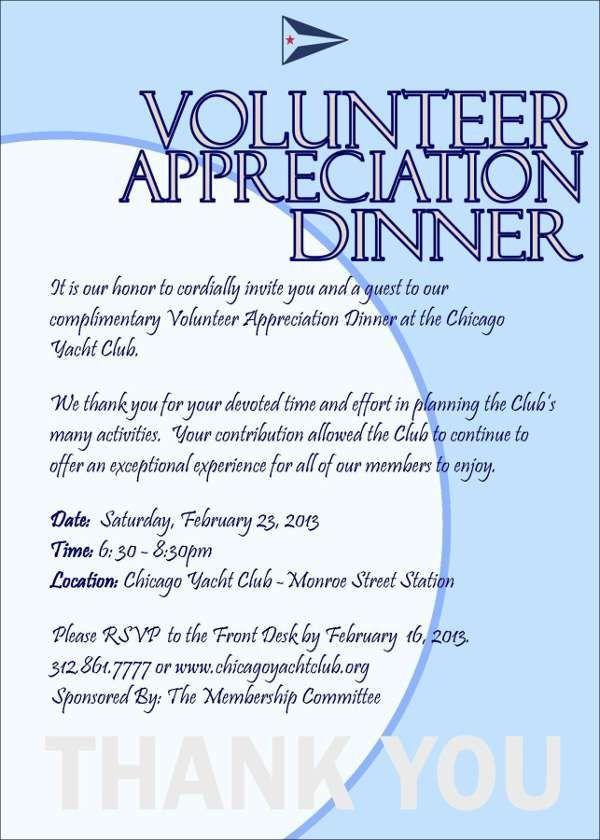 7+ Appreciation Dinner Invitations - Free Sample, Example, Format ...