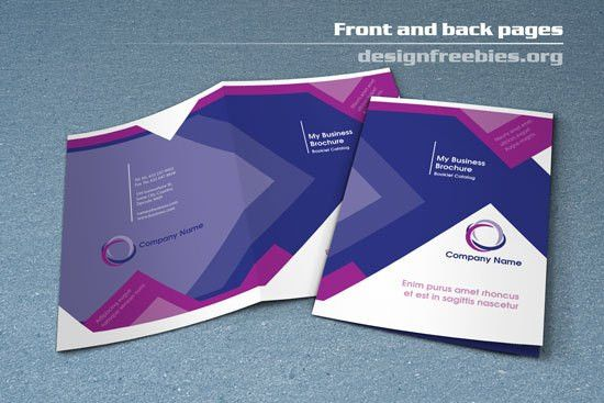 Free Bifold Booklet Flyer Brochure InDesign Template No. 1 | Free ...