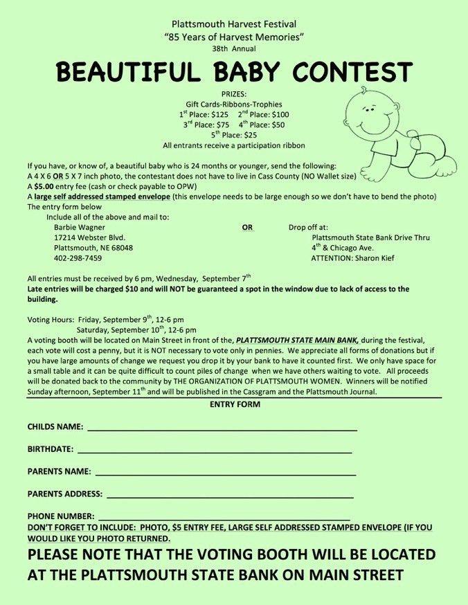Contest Form Template   Jobs.billybullock.us