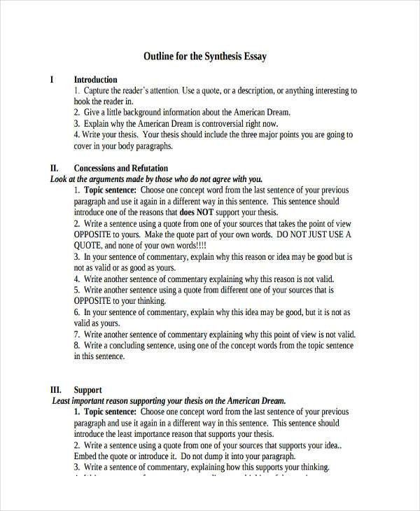 26+ Examples of Essay Outlines