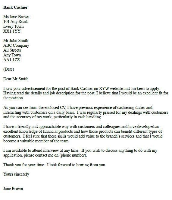 Cashier Cover Letter | | jvwithmenow.com