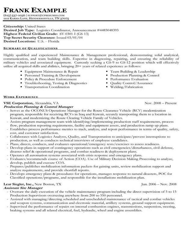 Exclusive Inspiration Government Resume Template 5 Federal Resume ...