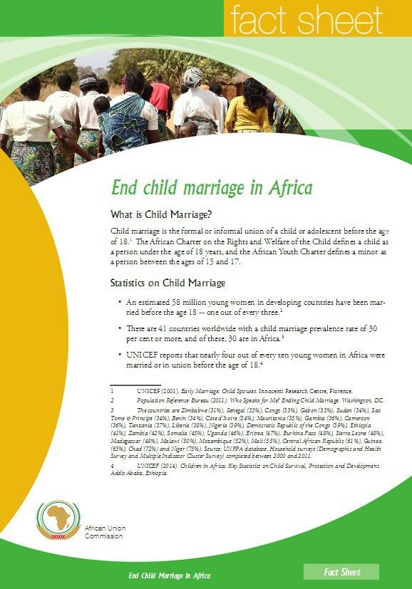 Fact sheet: End child marriage in Africa - Girls Not Brides
