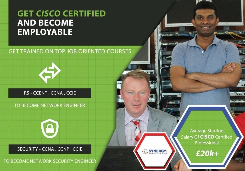 Train as a Network Engineer from Entry Level - CCENT - CCNA - CCNP ...