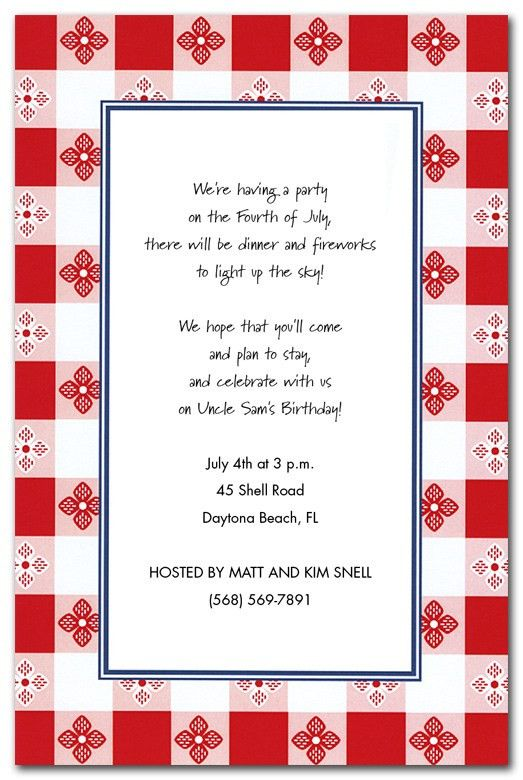 Retro Picnic - Party Invitations by Invitation Consultants. (IC-IN ...