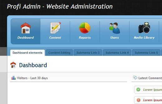 9 Free HTML Admin Website Templates | WebDesignity