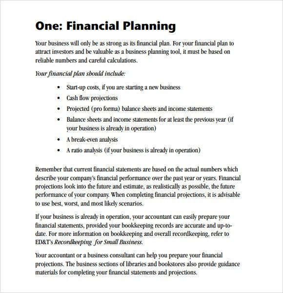 Sample Financial Business Plan - 5+ Documents in PDF