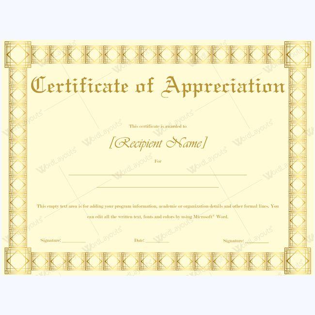 Teacher Appreciation Certificate Template #appreciationtemplate ...