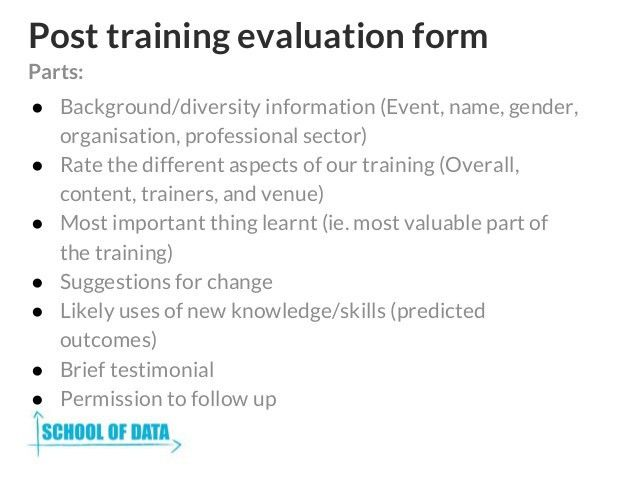 Training Feedback Form. Training Feedback Form Download Training ...