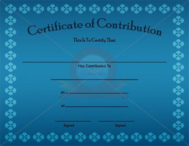 Donation Certificate Template. 10 Elegant Certificate Of ...