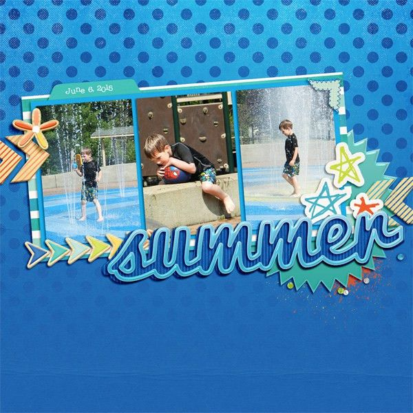Digital Scrapbook Template - Summer Words | Scrapping with Liz