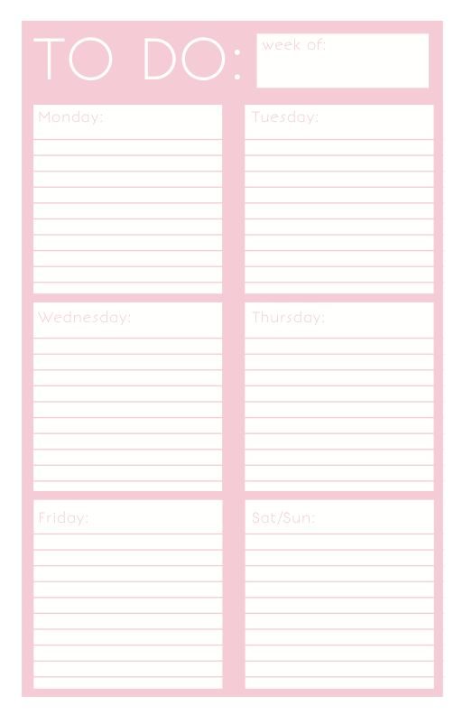 Printable Things To Do List | Printable: To Do List on Behance ...