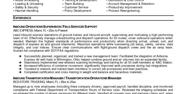 transportation logistics specialist resume. transportation officer ...