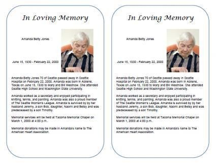 Where to get an obituary template for free - Obfuscata