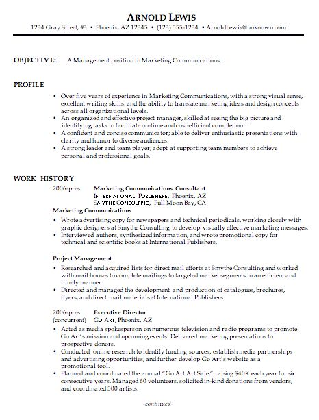 Amazing Design Ideas Communication Resume Examples 10 Executive ...