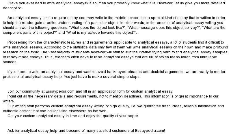 Writing analysis essay
