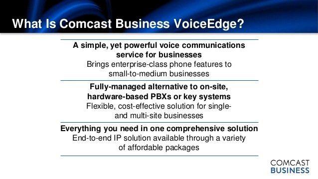Comcast Business VoiceEdge Presentation 2014_call 1 786 558 4440