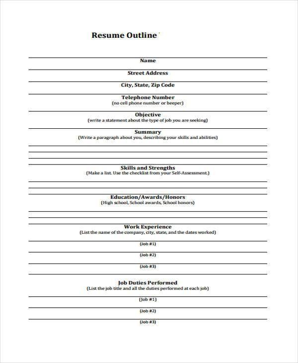 15 Outline Templates   Free & Premium Templates