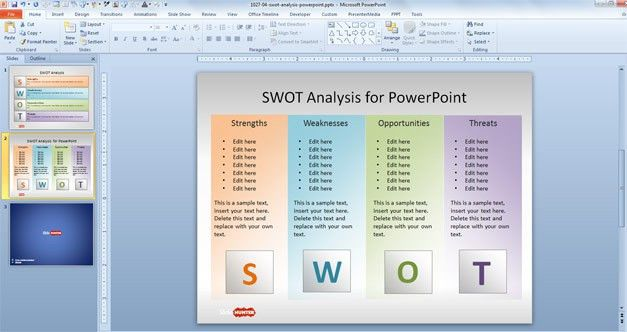 Free SWOT PowerPoint Template - Free PowerPoint Templates ...