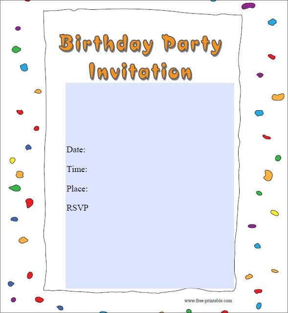 Free Party Invitation Template | badbrya.com