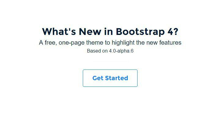 New in Bootstrap 4 Theme at BootstrapZero
