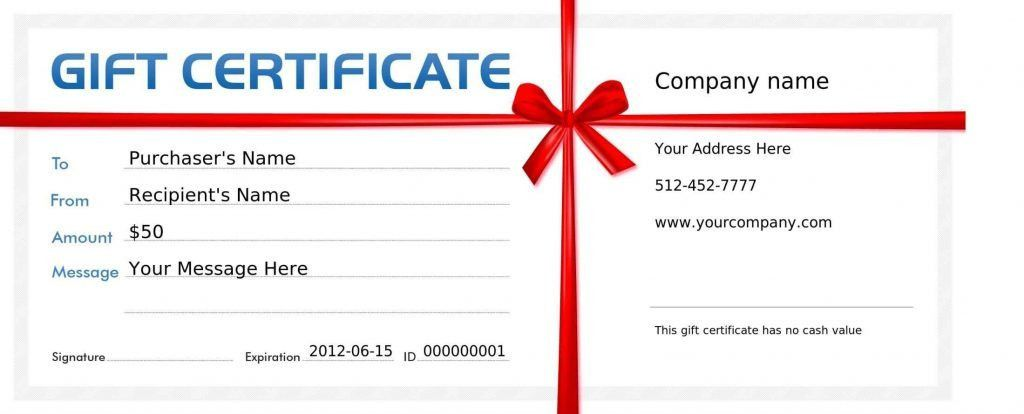 Free Printable Christmas Gift Certificate Templates - Template ...