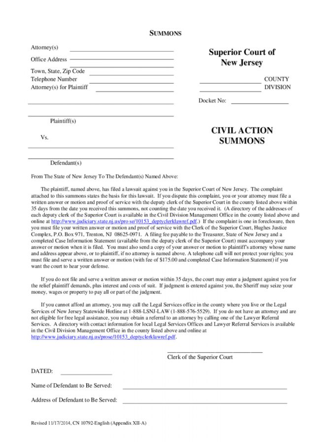 5 Divorce Papers Nj Document Forms Download 619 ~ Lotcos