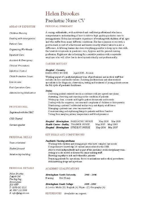 Download Pediatric Nurse Resume | haadyaooverbayresort.com