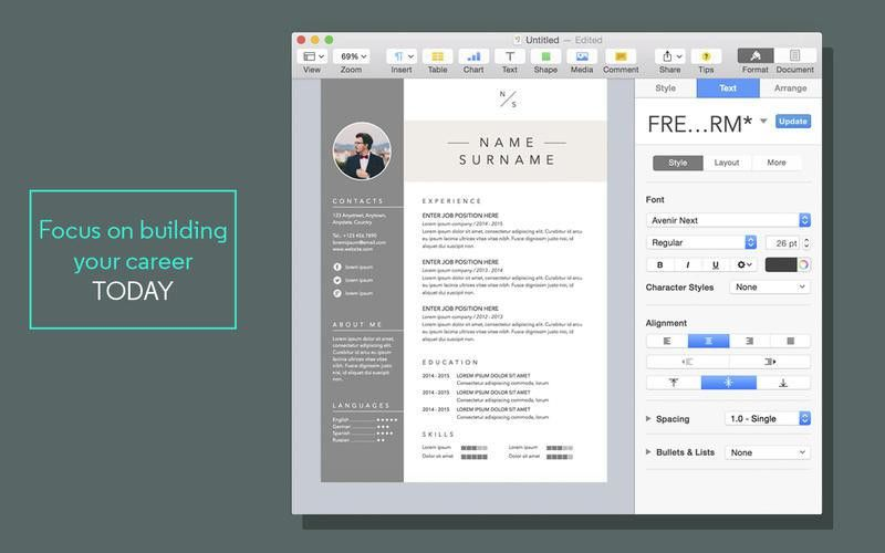 creative resume templates cool resume templates free. pages resume ...