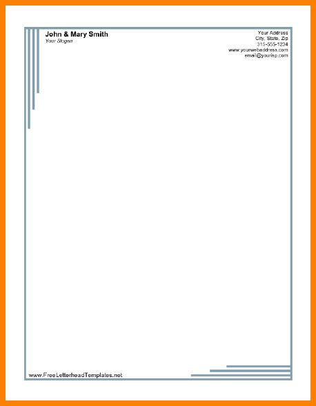 10+ printable letterhead templates | art resumed