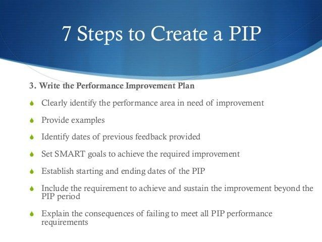Example of performance improvement plan performance improvement employee performance improvement plan pip pronofoot35fo Images