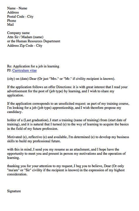 apprenticeship contract Cover letter - http://resumesdesign.com ...