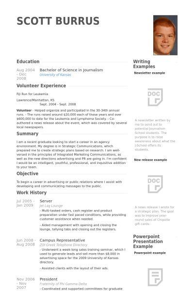 Server Resume samples - VisualCV resume samples database