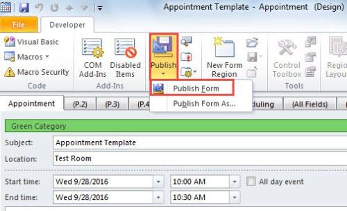 2 Ways to Create Appointment and Meeting Templates in Outlook ...