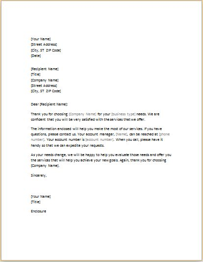 Introductory Letter to New Client Editable MS Word Document | Word ...
