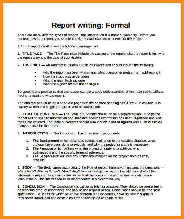 Report Writing Format Template. 10 Best My Reports Writing Designs ...