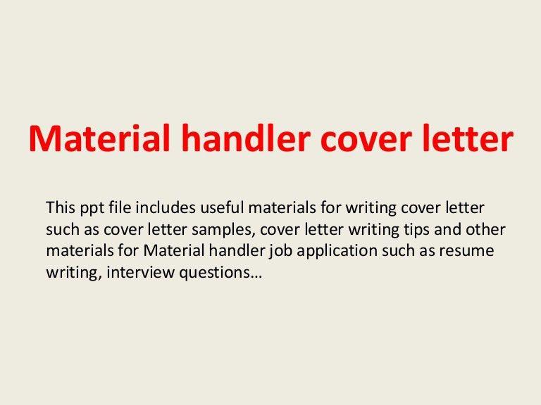 Charming Material Handler Job Description] The Best Material Handler Job .