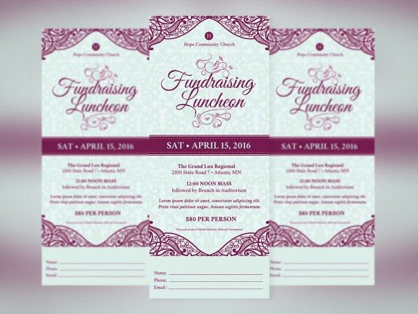 fundraiser event program template