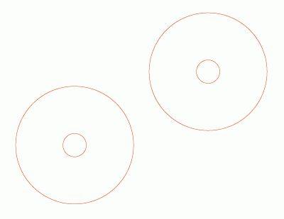 CD-R DVD-R Gloss Paper Label Printing Template
