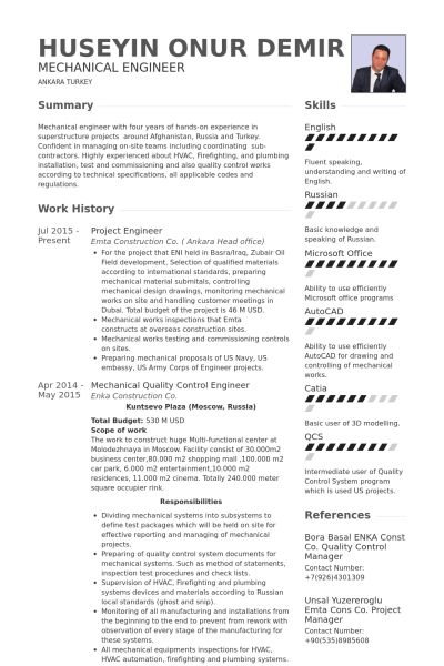 chief designer resume chief engineer resume samples visualcv