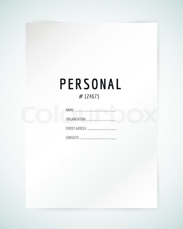 Form blank template. Business folder, paper and print, office ...