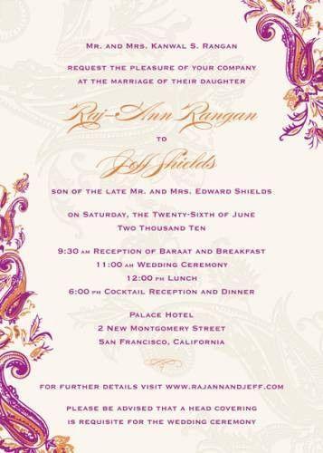 Sample Wedding Invitation Wording   invitations   Pinterest ...