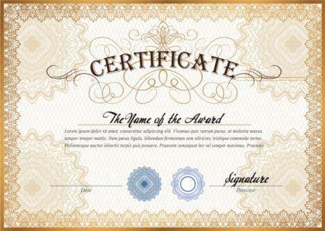 Customizable Golden Certificate Layout