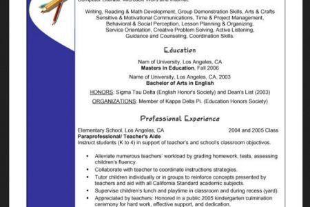 sample preschool teacher resume objective RESUMES DESIGN ...