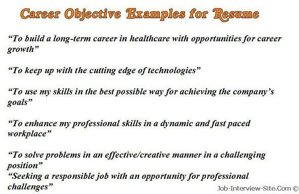 Example Of Objective On Resume | berathen.Com