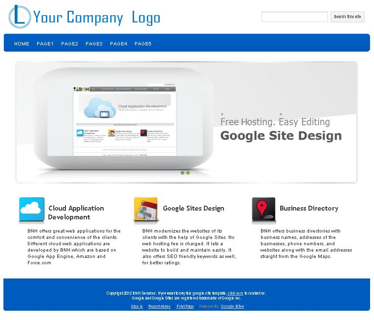 tem6 - Google Sites Templates