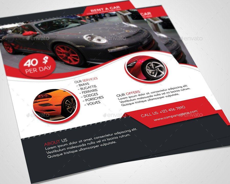 Rent A Car Flyer Template by Rigobro | GraphicRiver